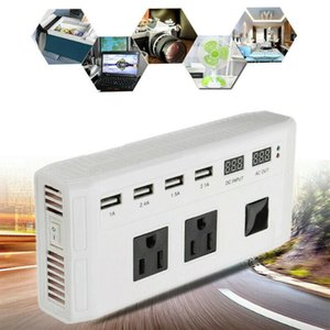 Wholesale sine wave resale online - Power Inverter Car Converter Sine Wave W Transformer Accessories Durable Voltage Portable USB V To V V Auto Adapter