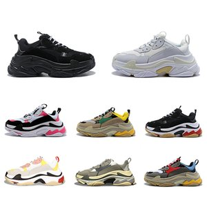 Triple-s designer Paris 17FW Triple s Sneakers for men women black red white green Casual Dad Shoes tennis increasing sneakers 36-45