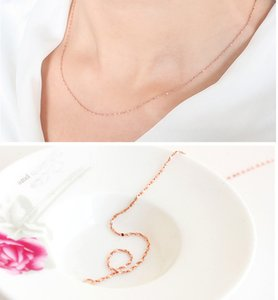 Wholesale Stylish Jewelry Women Thin Chain Necklace Lady s Pretty pc Italy Sexy Starry Rose Chain Necklace Wedding Pendant Gift