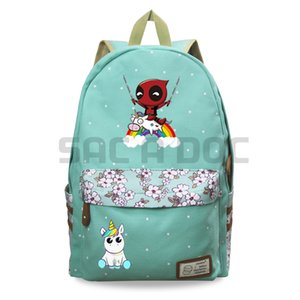 Wholesale Cute Girls Backpack Funny Deadpool Riding Unicorn Schoolbag Knapsack Teenager Girls Casual Backpack Bag