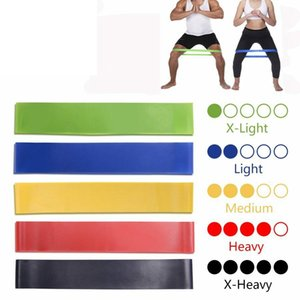 Wholesale Body Building Yoga Stretch Bands Belt Fitness Rubber Band Elastic Exercise Straps Indoor Sport Gym Pull Up MMA2374