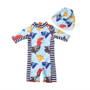 Wholesale Canis Summer Toddler Kids Baby Boys Girls Rash Short Sleeves Guard Sun Protective Surf Beach Swimwear Casual Clothing