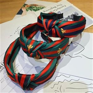 Wholesale Red and green striped headband headdress female Korean new knotted headband haircut wild hair accessories