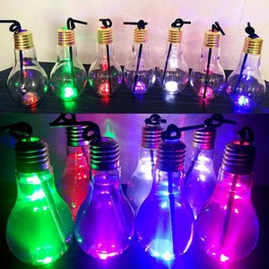 Wholesale Plastic Transparent Fruit Juice Light Bulb for Copper Wire String Light Creative Water Bottle Cup Drink Bottle bulb Lid Gifting