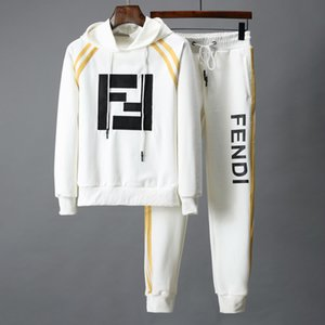 Wholesale Sweatshirts Sweat Mens Clothing Men s short Tracksuits Jackets Sportswear Sets Jogging Hoodies Suit fashion gym bee printed