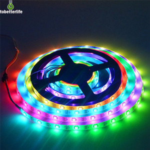 Wholesale WS2813 Led Strip light led Smart Ribbon Light SMD RGB Strip Light Color Changeable Effects Waterproof White Black PCB DC5V