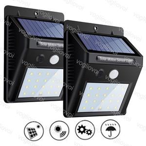 Solar Security Lights Motion Sensor 3Model 20 30 35LEDs Outdoor Lighting Waterproof ABS 6500K For Home Garden Yard DHL