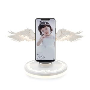 Wholesale Angel Wings Night Light Mobile Phone Wireless Charger for Android Apple USB10w Fast Charge Night Light