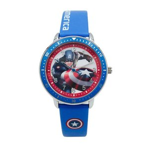 New Super Hero Watch Spiderman Iron Man Hulk Avengers Toys Kid Boy Girl Cartoon Leather Watch Student Cool Wristwatch