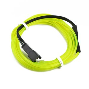 Wholesale newHigh Quality M Colorful Flexible EL Wire Tube Rope Neon Light Glow Car Party Decor