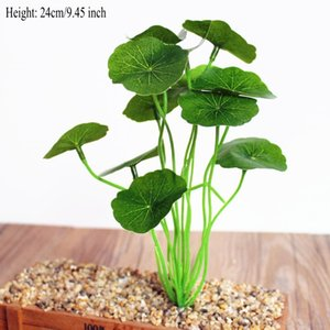 Wholesale Green leaf plants lotus leaf Green plants fake flowers artificial flowers grass silk flower decoration home decoration shoots