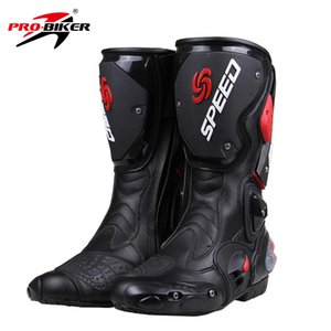 Wholesale Men PRO BIKER SPEED BIKERS Motorcycle Boots top quality Motocross Off Road Motorbike Shoes Black White Red Big Size B1001