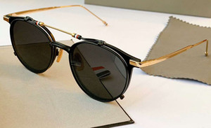 Wholesale eyewear flip sunglasses for sale - Group buy Fashion Flip pilot sunglasses gold black frame tb813 unisex sunglasses glasses Eyewear New with Box