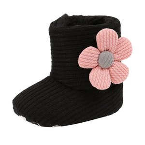 Wholesale Winter Lace up Solid Mesh Buckle Booties Casual Floral Infant Toddler Prewalker baby Shoes party Bowknot Girls Boys Shoe