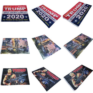 Wholesale Trump Flag cm Donald Trump flags Keep America Great Digital Print USA Banner Flags Styles
