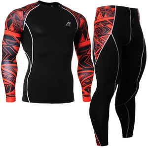 Wholesale sports base layer resale online - Mens Yoga Base Layer sets suit Boys Sport Set Breathable Jersey Set mens training gym long sleeve Shirt Compression tights