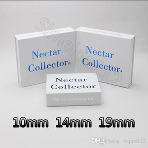 Hot Nector collector 10mm 14mm 19mm nector collector kit gift pack with Gr2 titanium nail domeless quartz nails water oil rigs glass bong