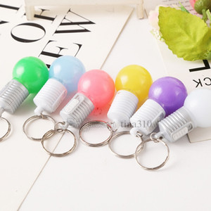 Wholesale New Light bulb key chain LED key chain Party Decoration lights package pendant Promotional gifts T2C5033