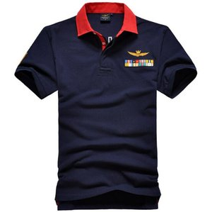 Sales US popular 100% cotton Army Air force embroidery polo shirts shorts sleeve men polo shirts male tees Men's Casual Shirts Clothing on Sale