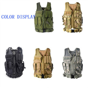 Camo Hunting Vest Men Tactical Vest Molle Tactical Paintball Assault Shooting Hunting Clothes Clothing with Holster