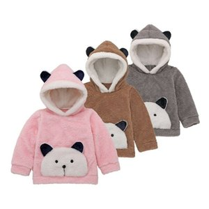 Toddler Baby Boys Girls Fall Winter Warm Padded Fleece Cute Panda Hooded Sweatshirt Top Fur Hoodies Clothes 2019 new