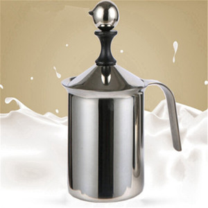 Wholesale Hot Sale New Stainless Steel Mug Milk Frother Double Mesh Milk Creamer Milk Foam For Coffee Maker Kitchen Accessories