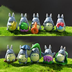 Wholesale 10pcs Cute My Neighbor Totoro Figures Gifts Doll Fairy Garden Decor PVC Miniature Figurines Toys Terrarium Statues Ornaments