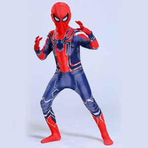 Wholesale 2019 Kids Halloween Mascot Spiderman Costumes Halloween Children s Clothing Children Spider Man Costume pc drop ship