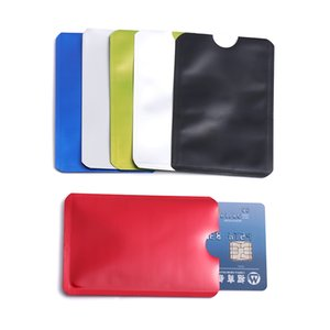 Wholesale 10 pack Anti theft Reader Lock Bank Id Case Anti Rfid Blocking Card Holder Smart Safety Protection Metal Credit Card Holder