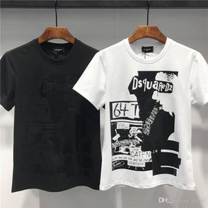 Wholesale 2019 Summer New Arrival Men's Clothing T-Shirts D2 Print Tees Size M-3XL DT404