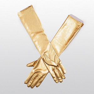 Wholesale Fashion Black Adult Sexy Long Latex Gloves Clubwear Sexy Catsuit Ladies Hip pop Fetish Faux Leather Gloves Cosplay Costumes Accessory