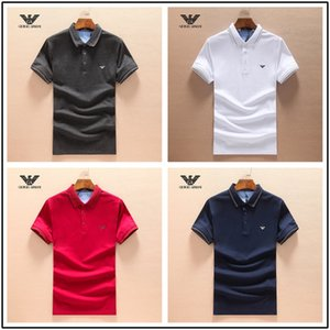 Wholesale 18ss luxurys Italy designers polo shirt t shirts Luxuryi embroidery mens High street fashion horse polo T shirt