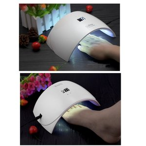 Wholesale 2019 SUNUV SUN9c Plus 36W UV Light LED Nail Dryer UVLED Gel Nail Lamp Arched Shaped Lamps for Nail Art Perfect Thumb