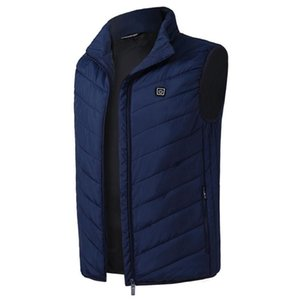 Man's USB Heated Warm Solid Vest Body Winter heated Sleeveless Hot Vest