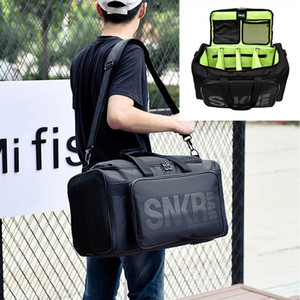 Large Multiple Compartment Sport Training Fishing Gym Bags Men Sneaker Gym Bag Shoes Packing Cube Organizer Waterproof Shoulder Bag SNKR