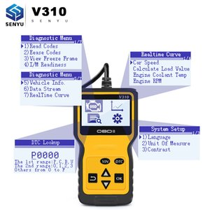 Wholesale V310 Code Reader OBDII EOBD Read VIN Code V1 pin Male OBD OBDII Diagnostic Tool Auto Scanner better than ELM327 V1