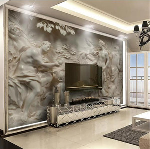 3D Wallpaper Custom 3D Embossed European And American Classical Mythology Nude Characters Living Room Bedroom Background Wall Decoration Wal