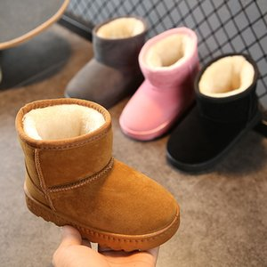 Girls Baby Leather UG Snow Boots Ankle Winter Warm Non-slip Kids Boys for Infant Toddler Shoes Little Kids Winter Boots Baby SH190916 on Sale