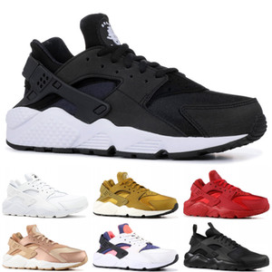 factory price 8bdb4 cd2c5 2019 Huarache 1.0 4.0 Running Shoes Men Women Top Quality Stripe Balck  White Oreo Sport Shoes Designer Sneakers Trainers 36-45