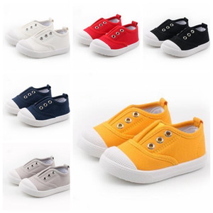 Baby Canvas Shoes Kids Lace-up Shoes Infant Soft Sole Outdoor Casual Shoes Kindergarten Single Cloth Fashion Anti-Slip Sports Sneakers D6000