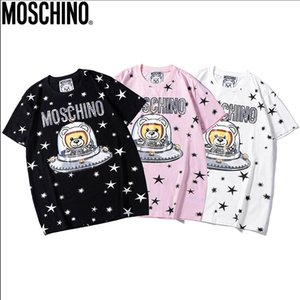 Wholesale 2019MOS CHINO NEW summer street clothing Paris fashion men and women bears stamps quality cotton T shirt casual women s