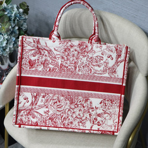 2020 New Fashion high quality embroidery Classic Colorful flowers Embroidery Shopping Bag, Large Space, Baitie Fashion Pattern Stitching