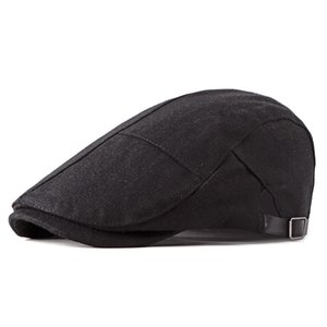 Wholesale Autumn High Quality Berets Men Cap For Women Berets Flat Hats Cabbie Driver Newsboy