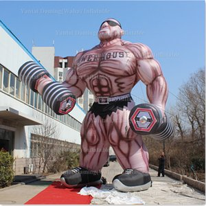 Wholesale 8m inflatable muscle man outdoors promotional inflatable helfy muscle man with free blower