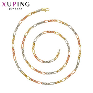 Wholesale 11 Deals Xuping New Arrival Muticolor Environmental Copper Trendy for Women Long Necklace Jewelry Christmas Gifts