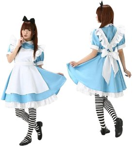 Wholesale COSPLAY Alice in Wonderland COS Japanese anime clothing Costumes Super cute Maid Maid service