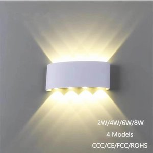 Wholesale Nordic Wall Lamp Led Aluminum Outdoor Indoor Ip65 Up Down White Black Modern For Home Stairs Bedroom Bedside Bathroom Light