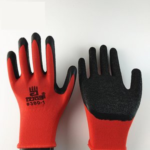 Wholesale NEW Black Latex Coated Red Cotton Working Glove Gloves
