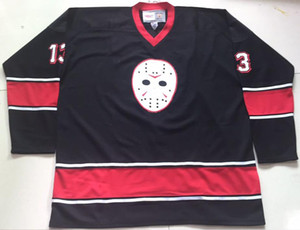 Wholesale Customize Friday the 13 Jason Voorhees Hockey Jersey Embroidery Stitched any number and name Jerseys