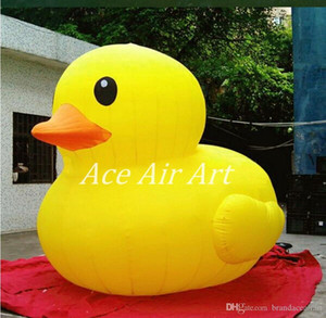 Wholesale 3m tall Giant and Beautiful Inflatable yellow duck for sale and Advertising on ground Made in China